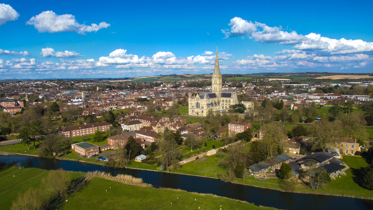 Aerial photograph of salisbury